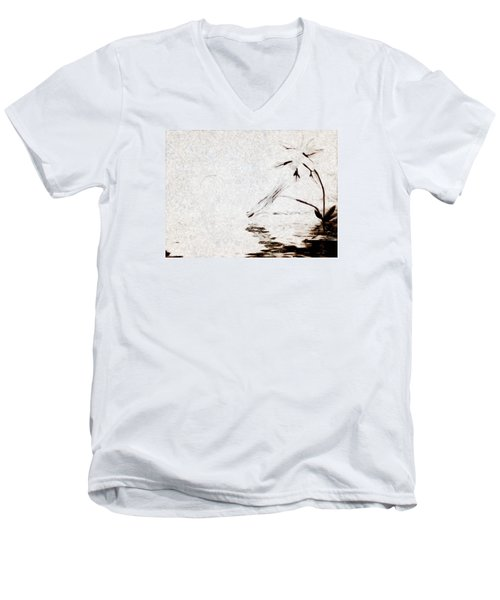 Simple Reflections Men's V-Neck T-Shirt by Mario Carini