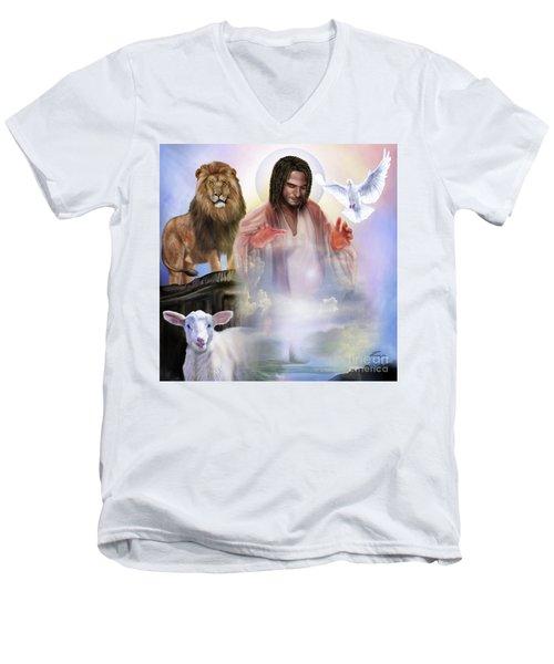 Since Before Abraham I Am Men's V-Neck T-Shirt