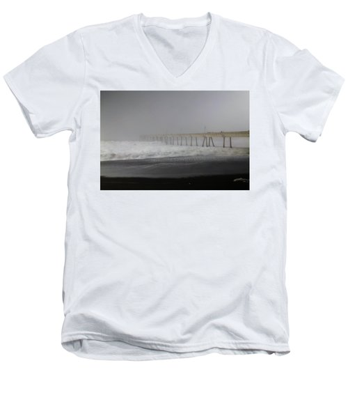 Men's V-Neck T-Shirt featuring the photograph Since You Left  by Laurie Search
