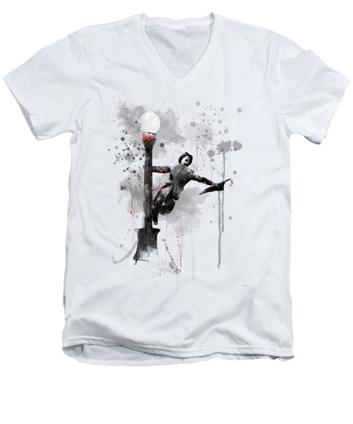 Singing In The Rain Men's V-Neck T-Shirt