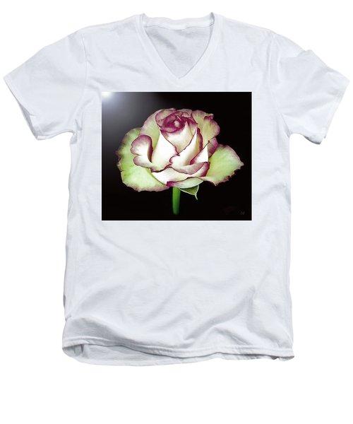 Single Beautiful Rose Men's V-Neck T-Shirt