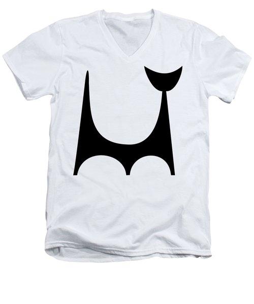 Single Cat 2  Men's V-Neck T-Shirt