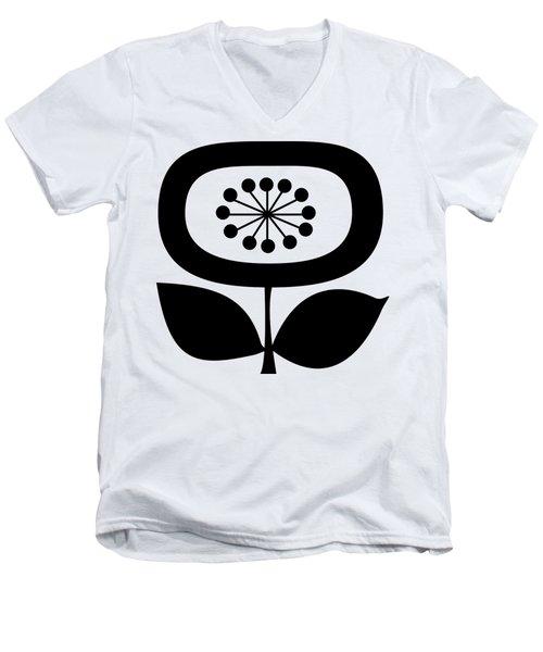 Single Flower 2  Men's V-Neck T-Shirt