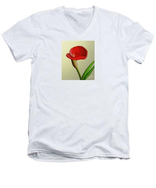 Single Pose Men's V-Neck T-Shirt