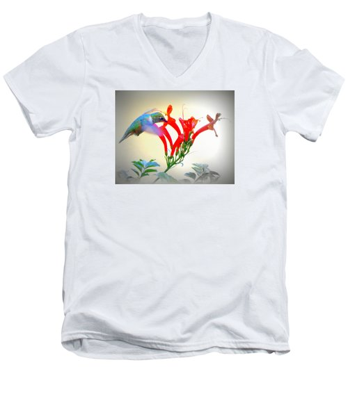 Sipping The Nectar Men's V-Neck T-Shirt