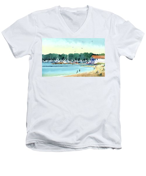 Sister Bay, Door County Men's V-Neck T-Shirt