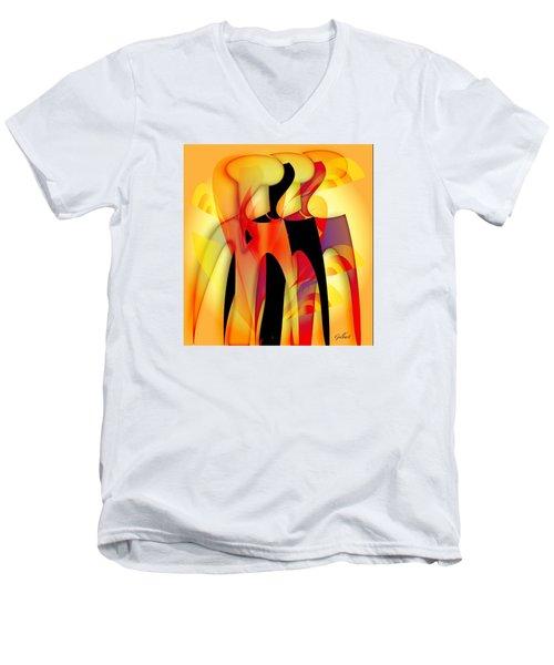 Sisters 4 Men's V-Neck T-Shirt by Iris Gelbart