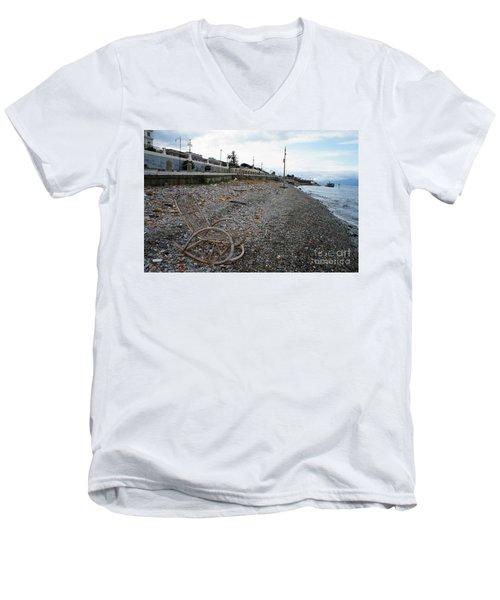Sit Back And Enjoy The Sea Men's V-Neck T-Shirt by Ana Mireles