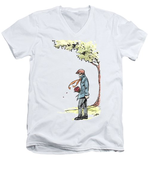 The Site Visitor Men's V-Neck T-Shirt