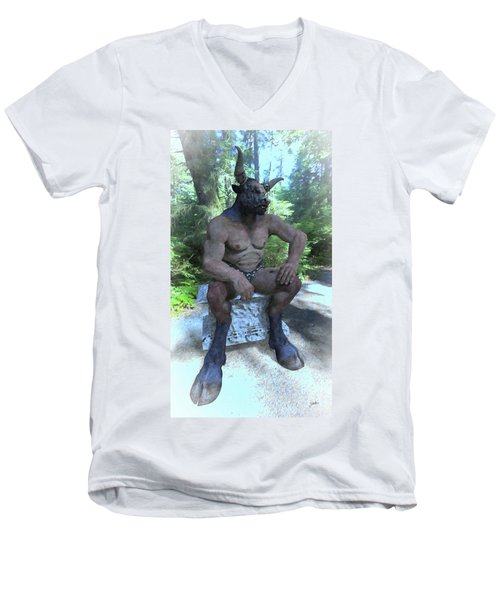 Sitting Bull Men's V-Neck T-Shirt