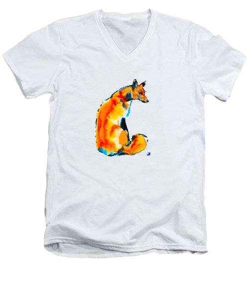Sitting Fox Men's V-Neck T-Shirt