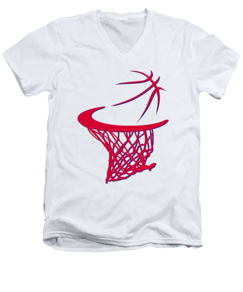 Sixers Basketball Hoop Men's V-Neck T-Shirt