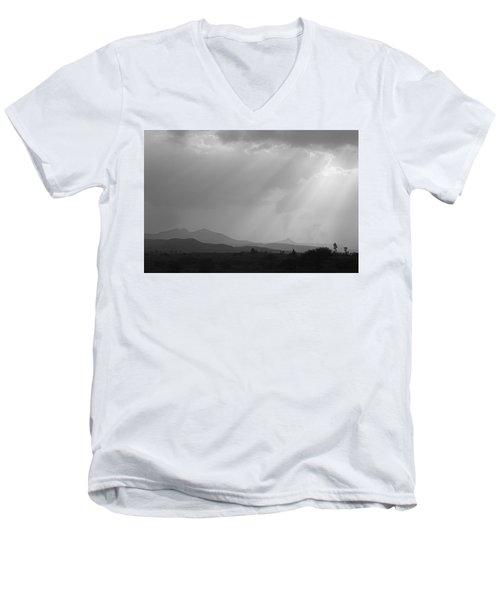 Skc 4928 Blessings Are Showering Men's V-Neck T-Shirt by Sunil Kapadia