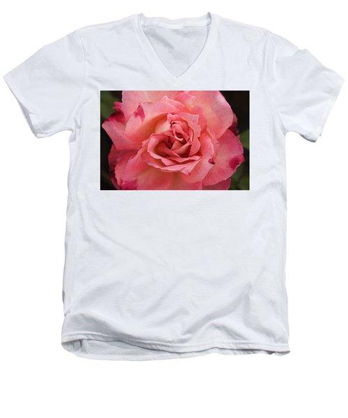 Skc 4942 The Pink Harmony Men's V-Neck T-Shirt by Sunil Kapadia
