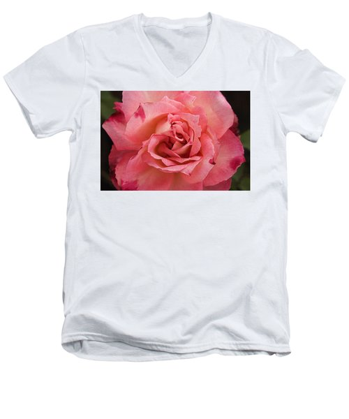 Skc 4942 Pink Harmony Men's V-Neck T-Shirt