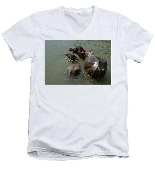 Skc 5603 The Coolest Way Men's V-Neck T-Shirt by Sunil Kapadia