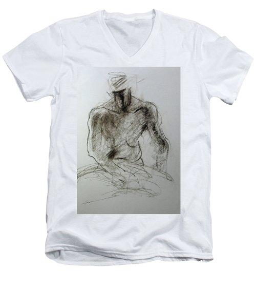 Sketch Of Torso Men's V-Neck T-Shirt