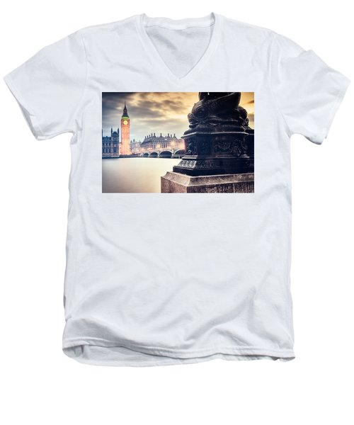 Skies Over London Men's V-Neck T-Shirt