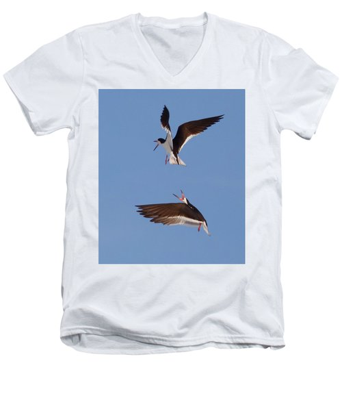 Skimmers In Flight Men's V-Neck T-Shirt