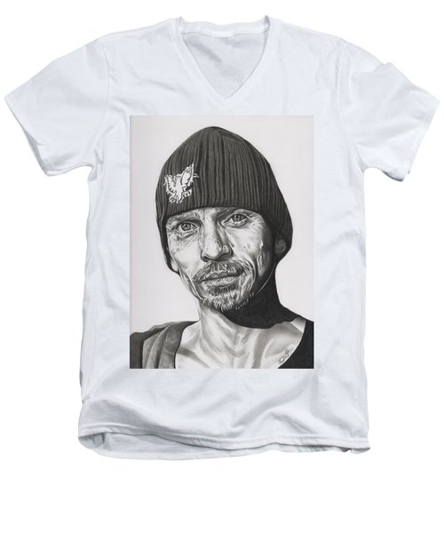 Skinny Pete  Breaking Bad Men's V-Neck T-Shirt by Fred Larucci