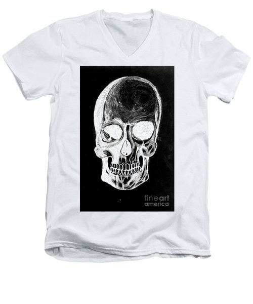 Skull Study 3 Men's V-Neck T-Shirt