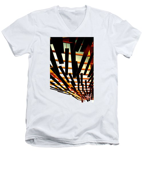 Men's V-Neck T-Shirt featuring the photograph Sky Chasm by Cathy Dee Janes