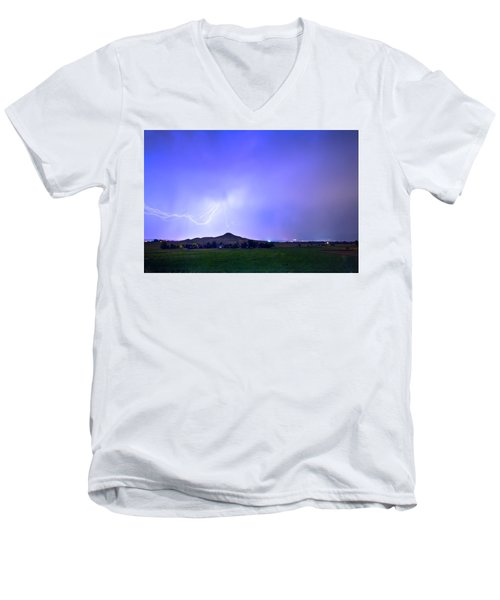 Men's V-Neck T-Shirt featuring the photograph Sky Monster Above Haystack Mountain by James BO Insogna
