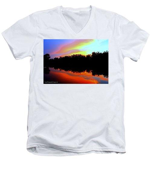 Sky Painting Men's V-Neck T-Shirt