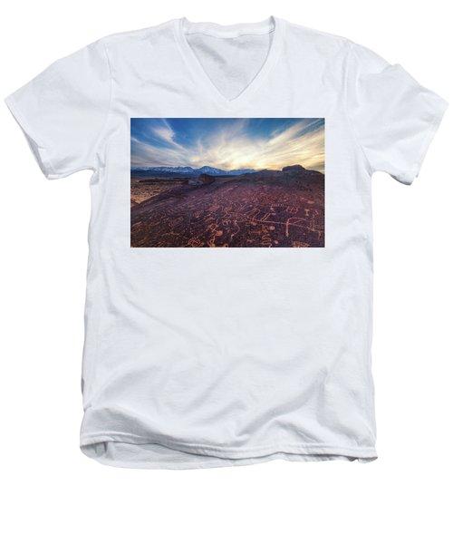 Sky Rock Men's V-Neck T-Shirt