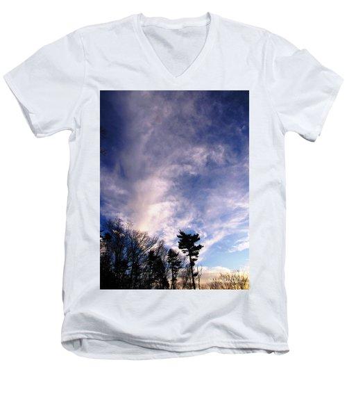 Sky Study 2 3/11/16 Men's V-Neck T-Shirt by Melissa Stoudt