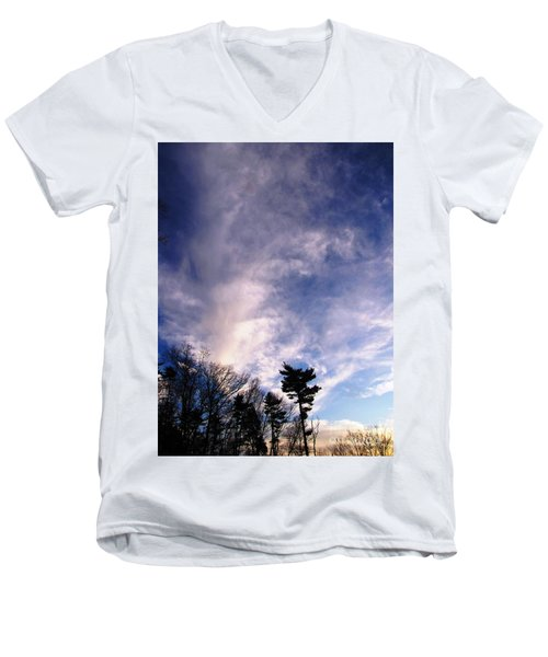Sky Study 2 3/11/16 Men's V-Neck T-Shirt