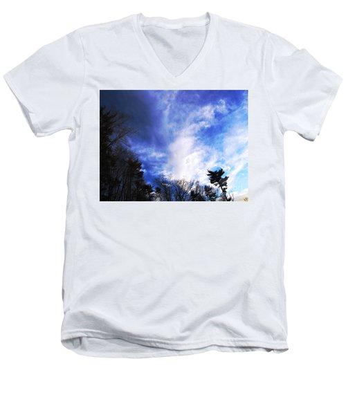 Sky Study 4 3/11/16 Men's V-Neck T-Shirt by Melissa Stoudt