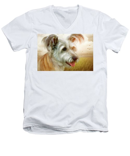 Skye Terrier Men's V-Neck T-Shirt