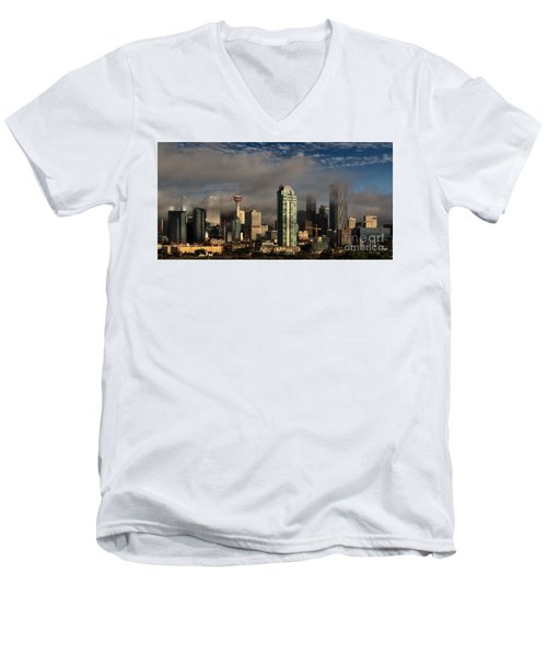 Skyline Fog Men's V-Neck T-Shirt