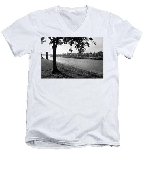 Skyline Maastricht Men's V-Neck T-Shirt by Nop Briex