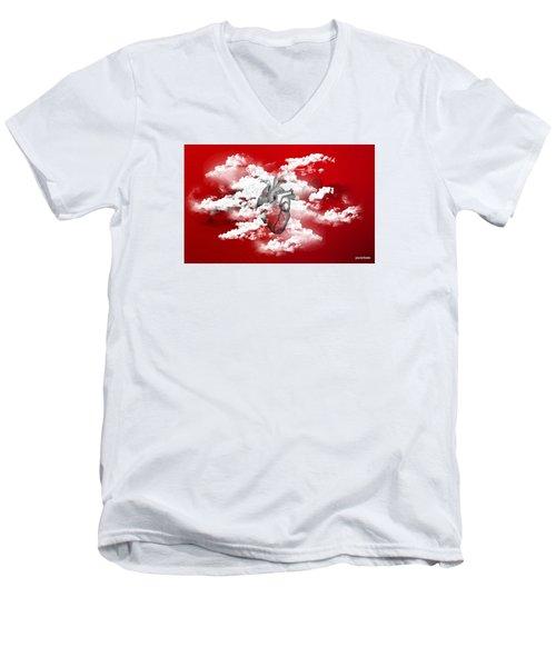 #skylovers Men's V-Neck T-Shirt