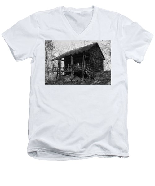 Men's V-Neck T-Shirt featuring the photograph Slabsides In Spring by Jeff Severson