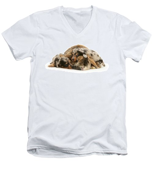 Sleep In Camouflage Men's V-Neck T-Shirt