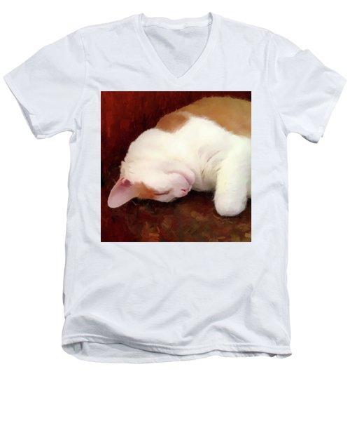 Sleeping Boo Men's V-Neck T-Shirt