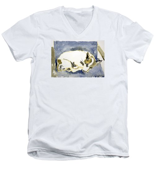 Sleeping Dog Men's V-Neck T-Shirt