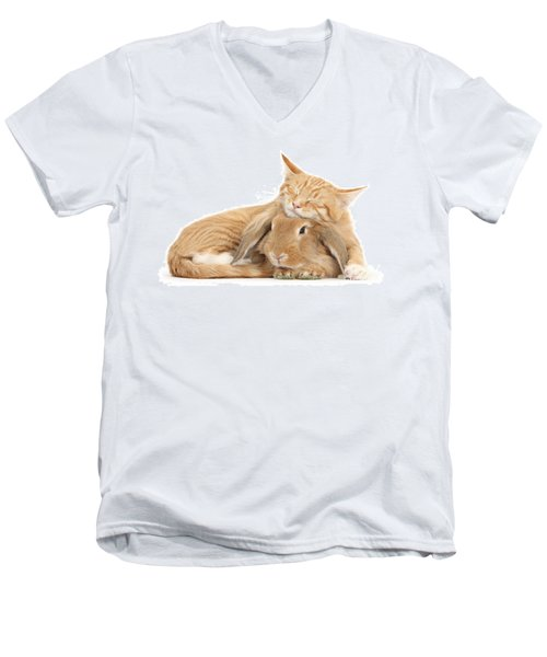 Sleeping On Bun Men's V-Neck T-Shirt