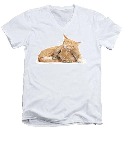 Sleeping On Bun Men's V-Neck T-Shirt