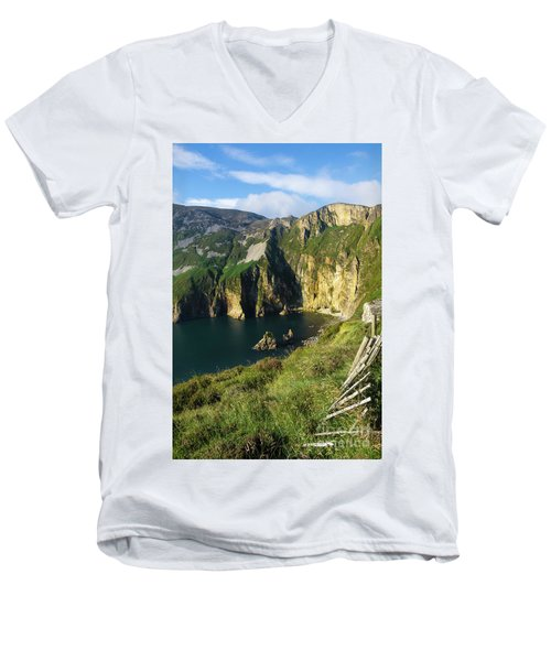 Men's V-Neck T-Shirt featuring the photograph Slieve League Cliffs Eastern End by RicardMN Photography