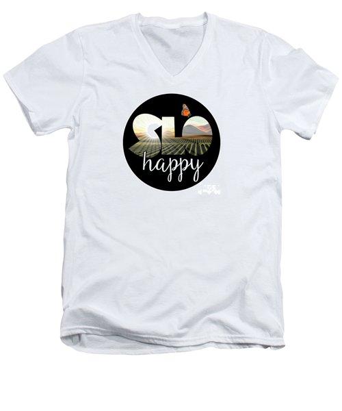 Slohappyedna Men's V-Neck T-Shirt