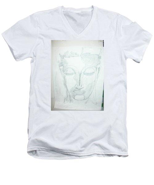 Slumbering Buddha Men's V-Neck T-Shirt by Sharyn Winters