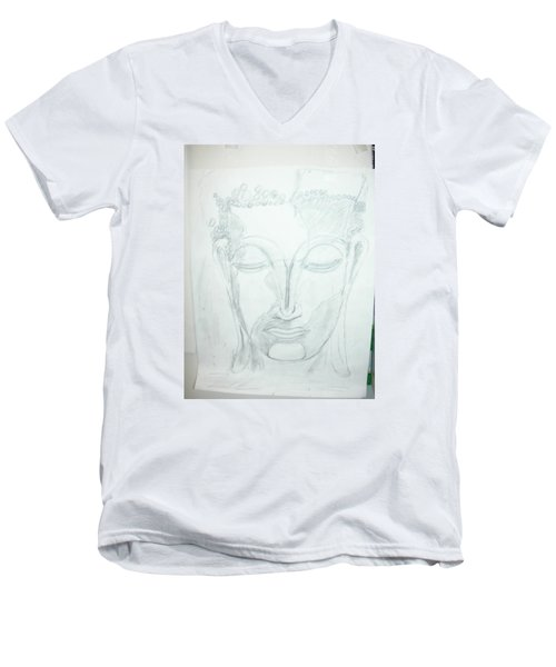 Slumbering Buddha Men's V-Neck T-Shirt