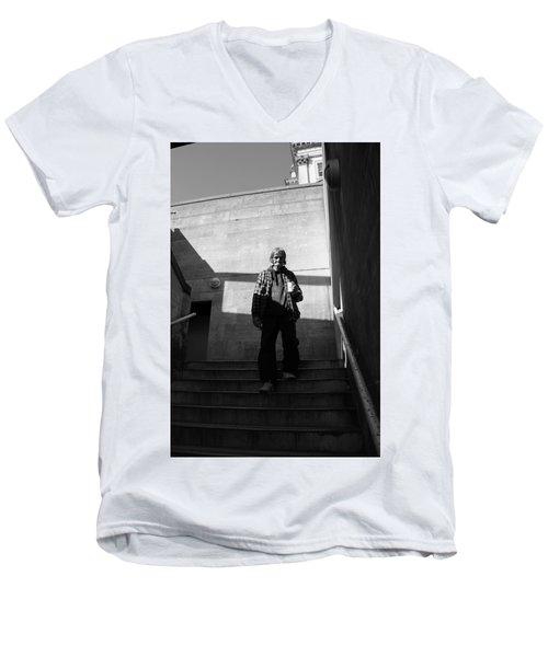 Small Steps Men's V-Neck T-Shirt