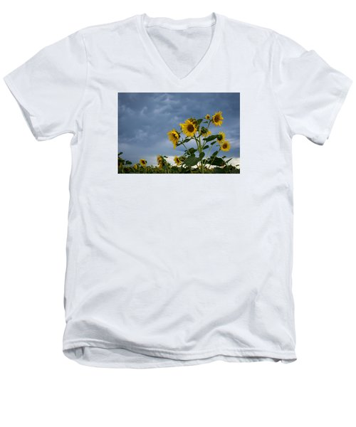 Small Sunflowers Men's V-Neck T-Shirt