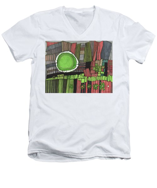 Sun Gone Green Men's V-Neck T-Shirt by Sandra Church