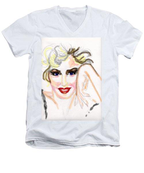 Smile For Me Marilyn Men's V-Neck T-Shirt